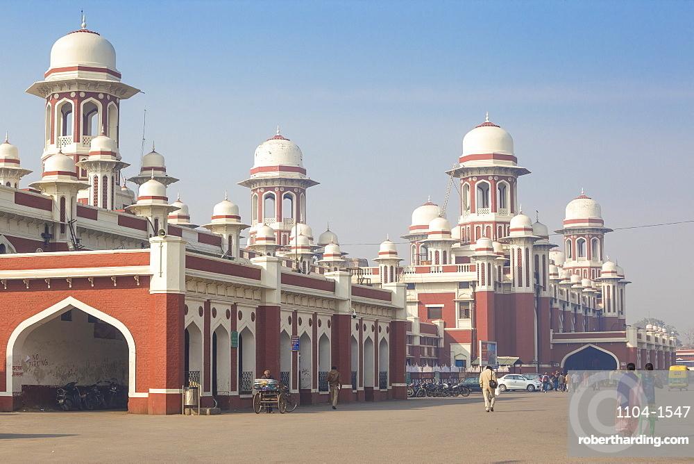 India, Uttar Pradesh, Lucknow, Railway station