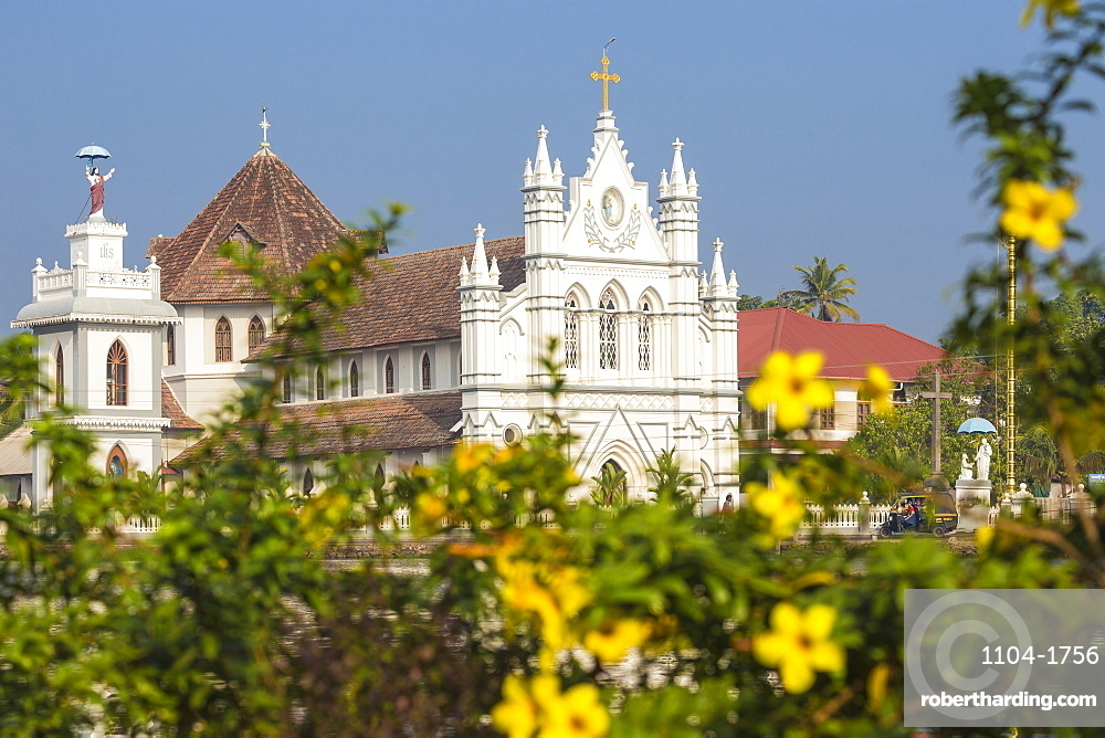 India, Kerala, Alappuzha (Alleppey), Backwaters, St. Mary Forane Church