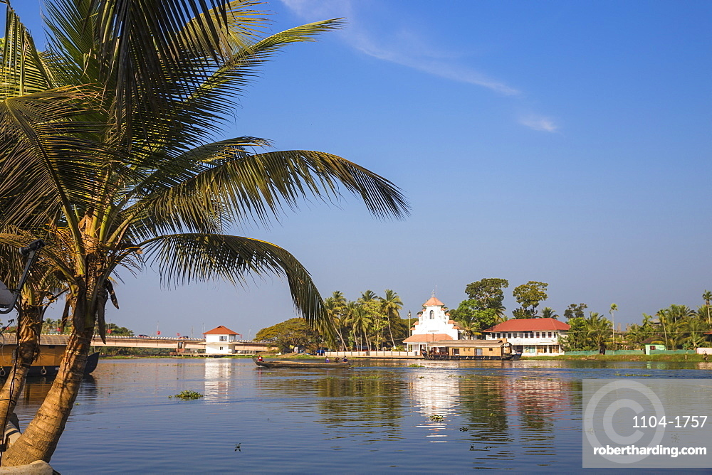 India, Kerala, Alappuzha (Alleppey), Backwaters, Chucrh