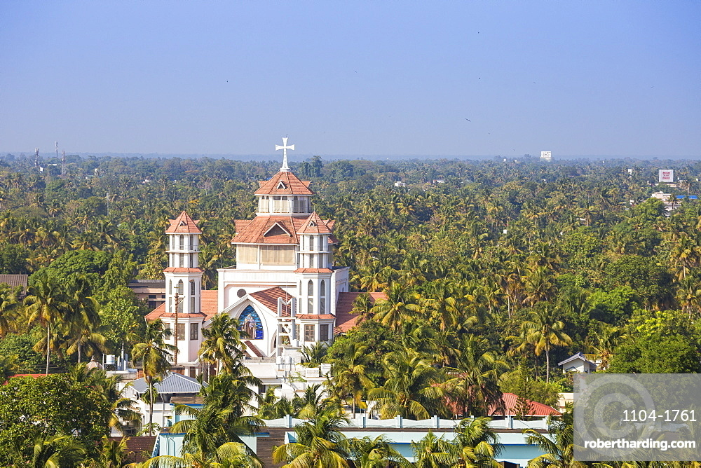 India, Kerala, Kollam, View of Infant Jesus Roman Catholic Latin Cathedral