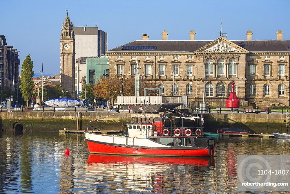 The Lagan waterfront, Belfast, Ulster, Northern Ireland, United Kingdom, Europe