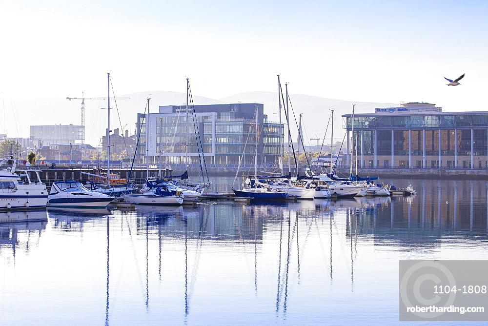 United Kingdom, Northern Ireland, Belfast, Belfast Harbour Marina