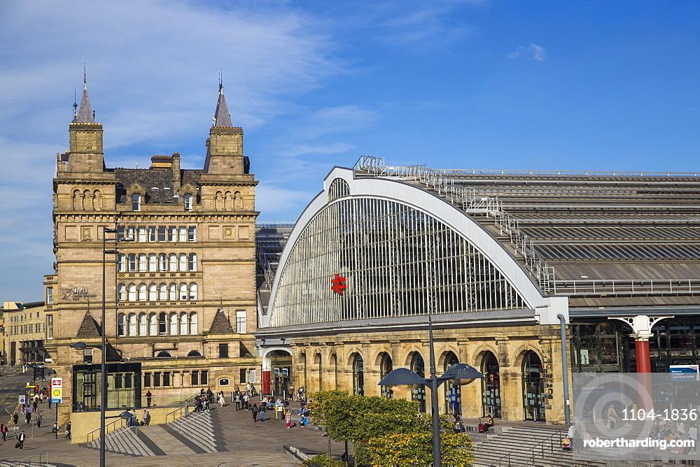 Liverpool Lime Street Railway Station, Liverpool, Merseyside, England, United Kingdom, Europe