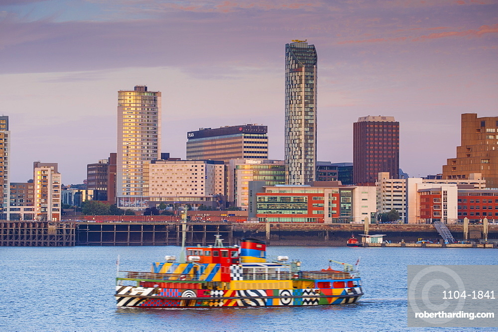 View of Liverpool skyline, Liverpool, Merseyside, England, United Kingdom, Europe