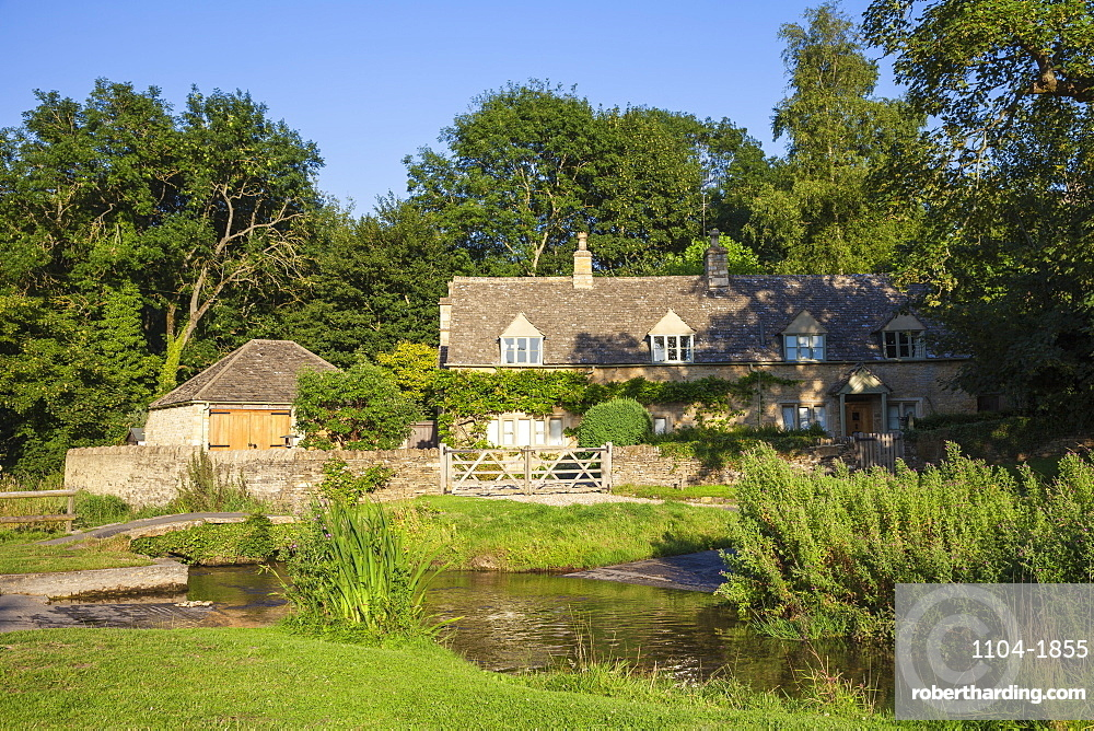 Upper Slaughter village, The Cotswolds, Gloucestershire, England, United Kingdom, Europe