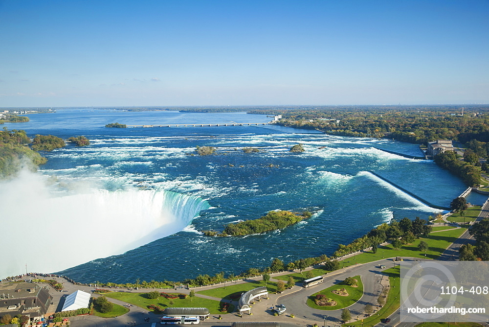 View Of Horseshoe Falls Niagara Stock Photo