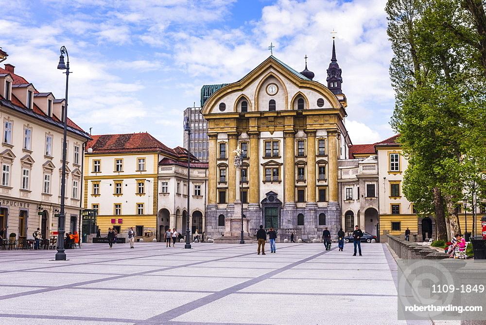 Ursuline Church of the Holy Trinity, Ljubljana, Slovenia, Europe