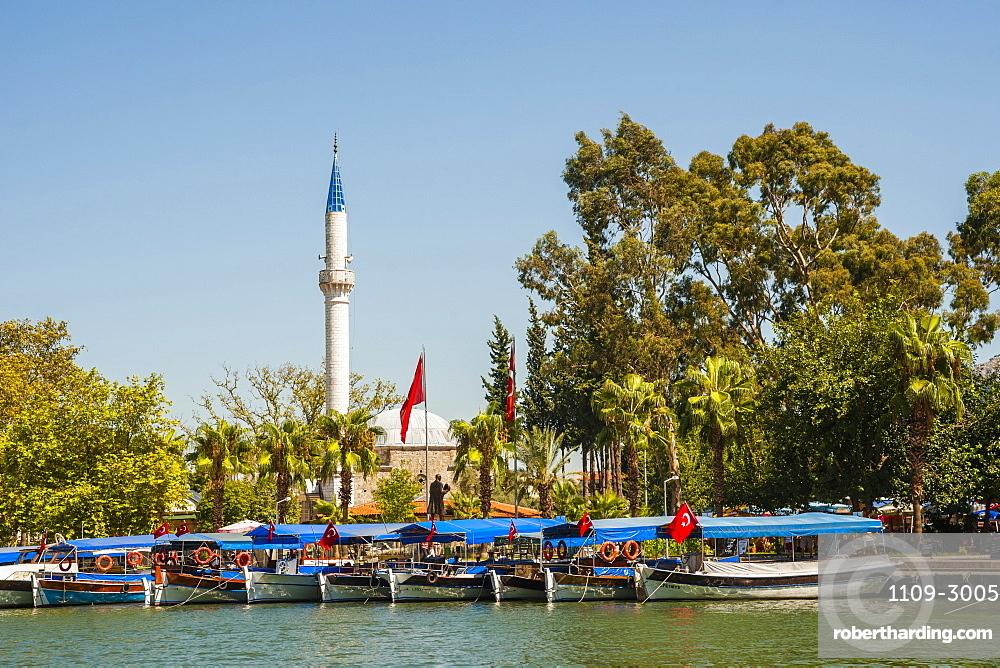 Waterfront, Dalyan, Mugla Province, Anatolia, Turkey, Asia Minor, Eurasia