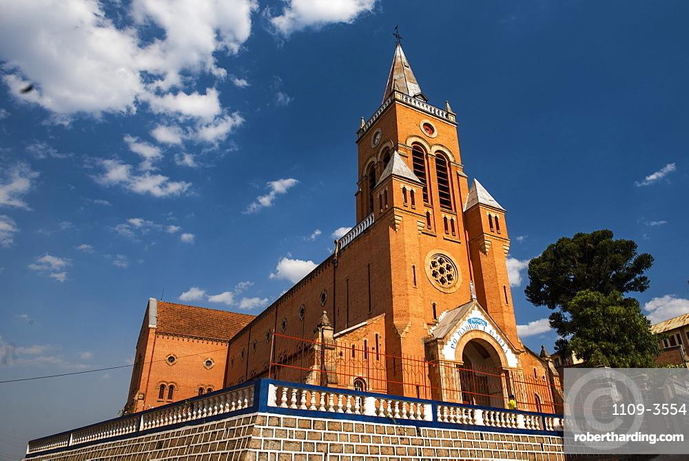 Church near Antsirabe, Vakinankaratra Region, Madagascar, Africa