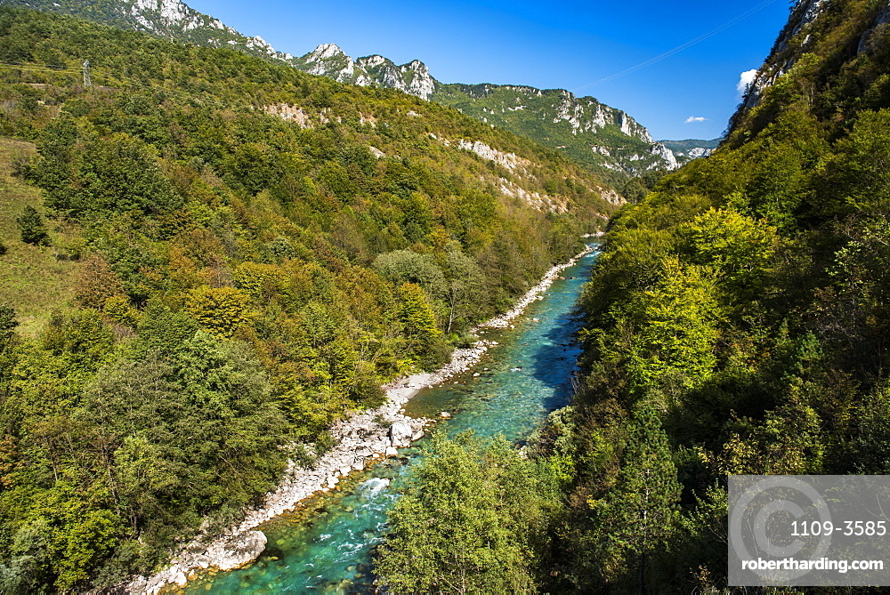 Tara River Canyon Gorge, Bosnia and Herzegovina border with Montenegro, Europe