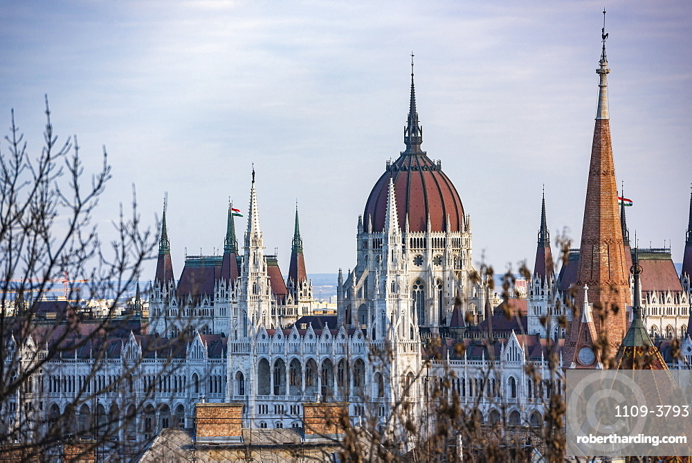 Houses of Parliament, Budapest, Hungary, Europe
