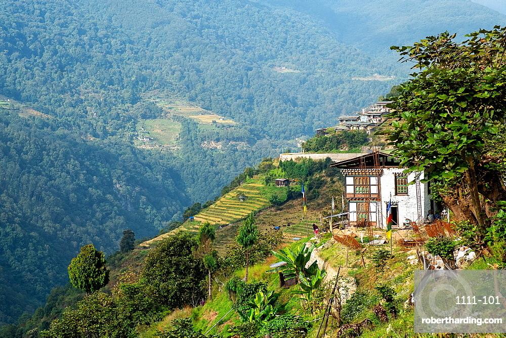 Trongsa landscape, Bhutan, Himalayas, Asia