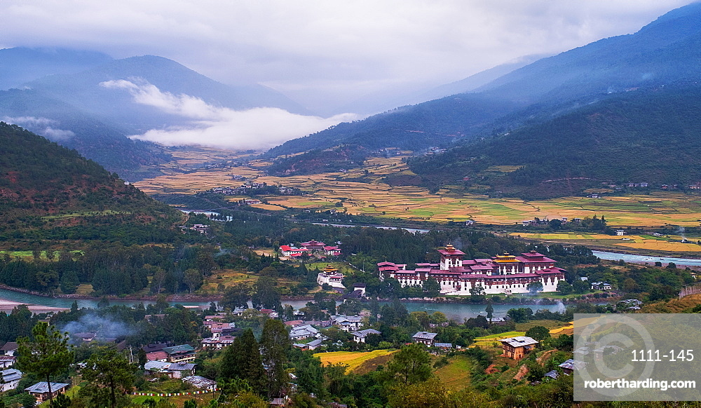 Punakha Dzong, the second largest and second oldest dzong in Bhutan.