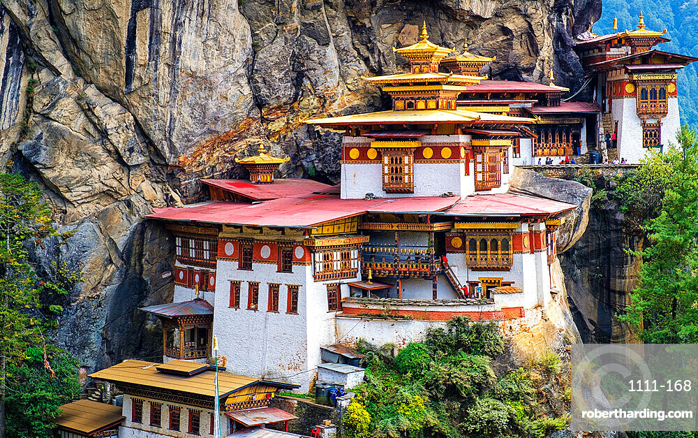 Tiger's Nest Monastery, is a sacred Vajrayana Himalayan Buddhist site located in the upper Paro valley in Bhutan.