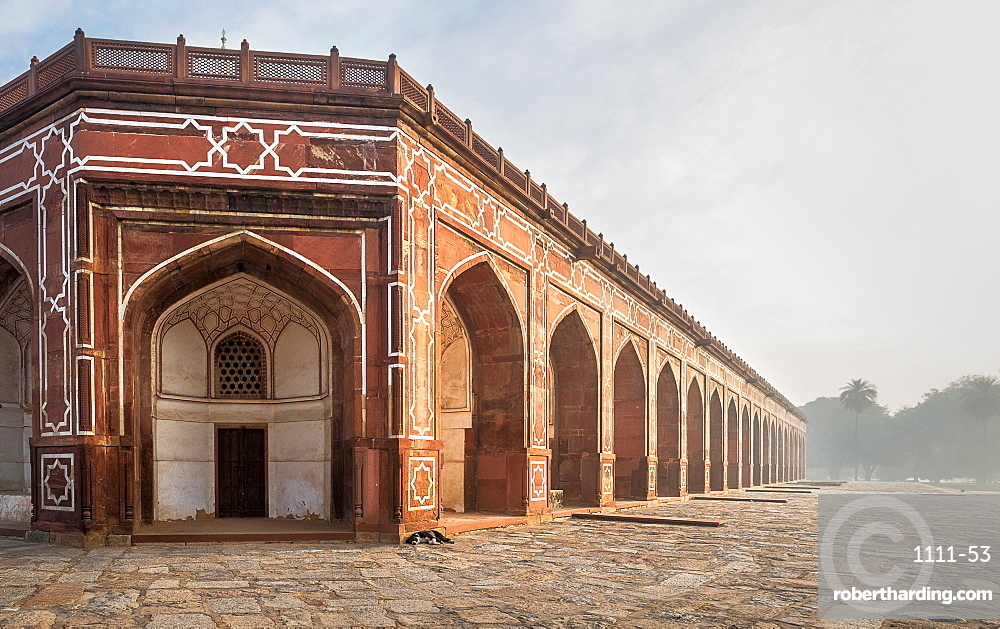 Corner of Humayun's Tomb in Delhi, India, Asia