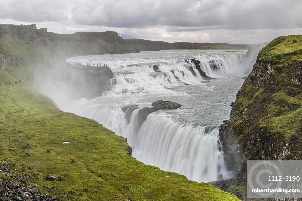 Gullfoss (Golden Falls), a waterfall located in the canyon of the Hvita River in southwest Iceland, Polar Regions