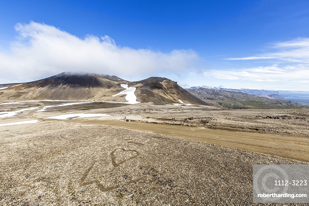 A view inside the stratovolcano crater Snaefellsjokull, Snaefellsnes National Park, Snaefellsnes Peninsula, Iceland, Polar Regions