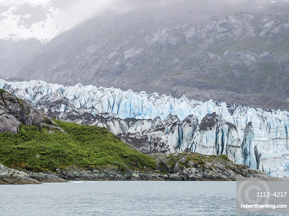 Lamplugh Glacier, a tidewater glacier in Glacier Bay National Park and Preserve, Southeast Alaska, United States of America, North America