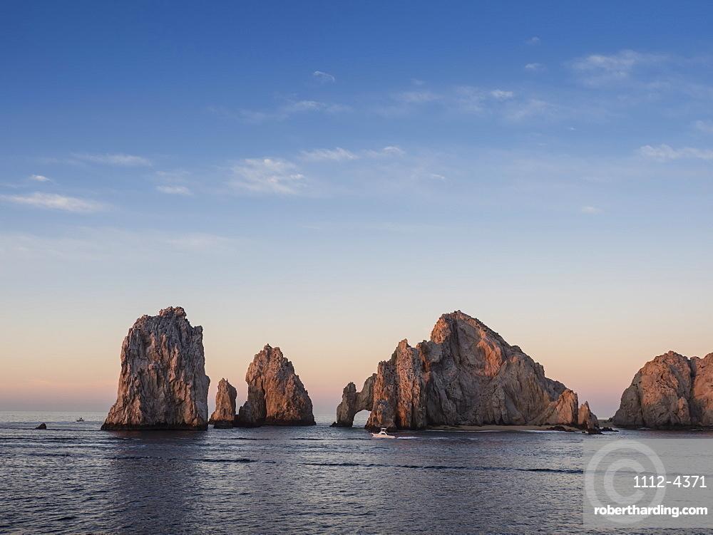 Sunrise light paints Land???s End at Cabo San Lucas, Baja California Sur, Mexico.