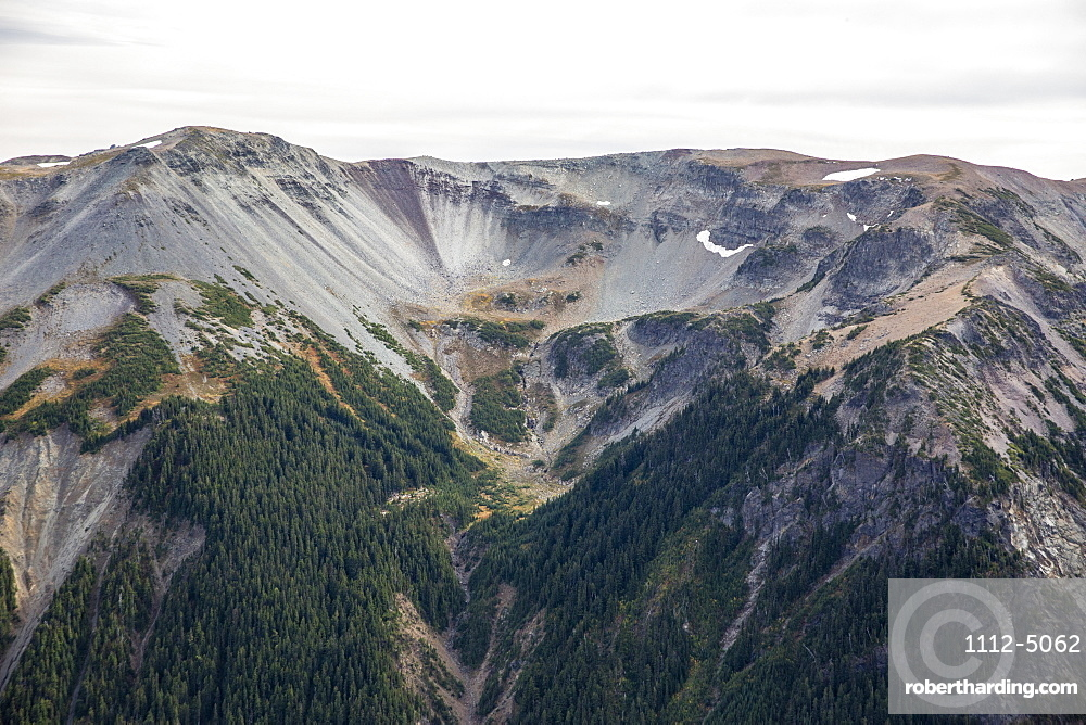 Receded glacier on Mount Rainier from the Burroughs Mountain Trail, Mount Rainier National Park, Washington State, United States of America, North America