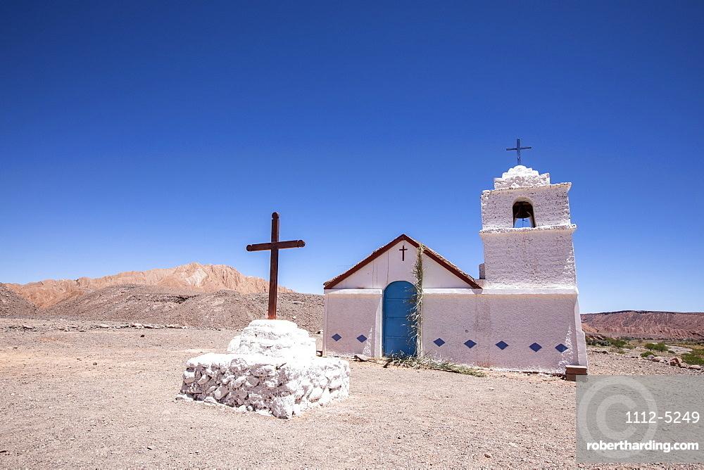 The small Capilla de San Isidro, Catarpe, Antofagasta Region, Chile, South America
