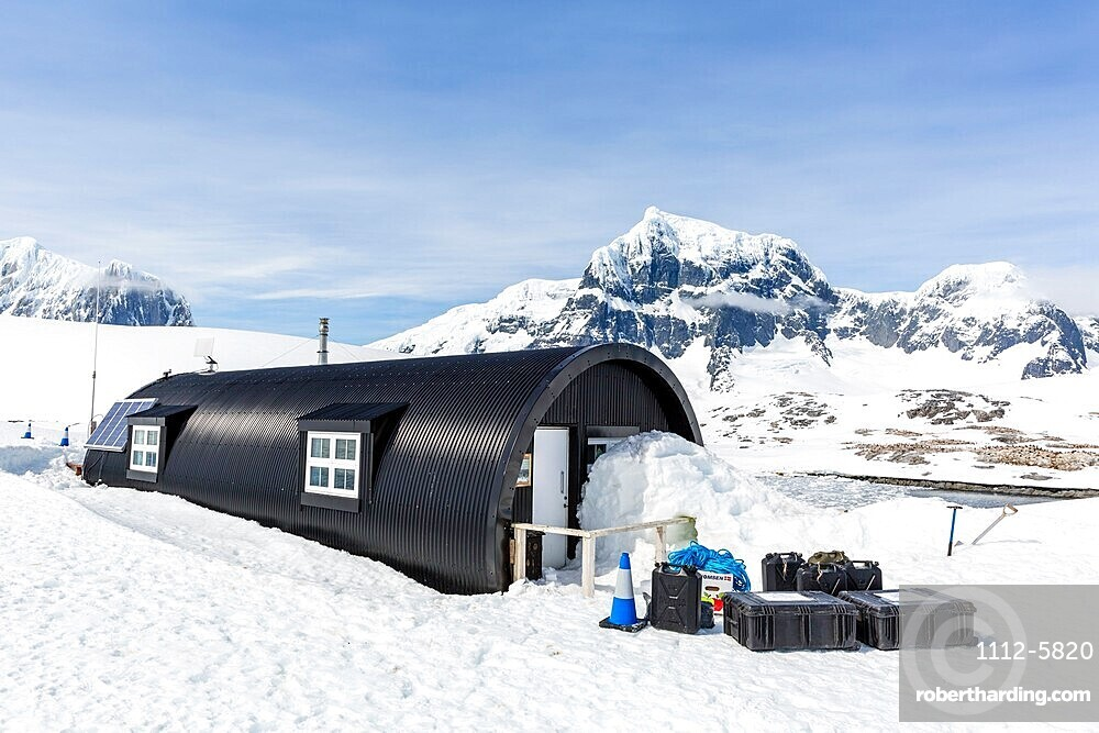 Former British Base A, now a museum and post office at Port Lockroy on tiny Goudier Island, Antarctica.