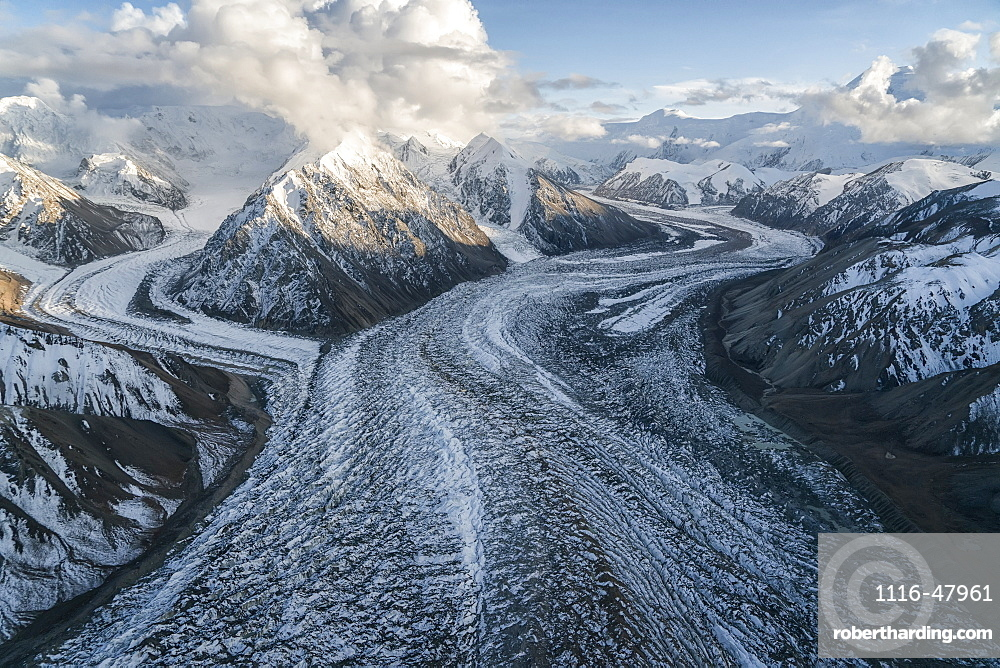 Glaciers and mountains of Kluane National Park and Reserve, near Haines Junction, Yukon, Canada