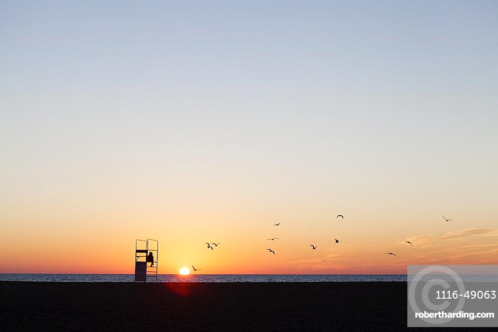 Sunrise at Woodbine Beach, Toronto, Ontario, Canada