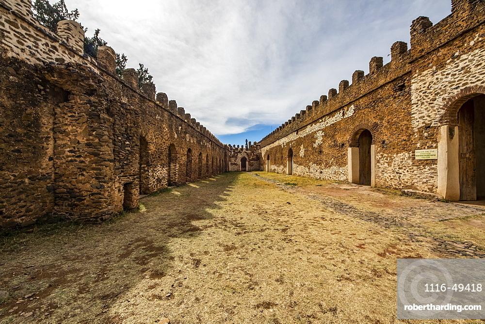 Stables and Bakaffa's Palace, Fasil Ghebbi (Royal Enclosure), Gondar, Amhara Region, Ethiopia