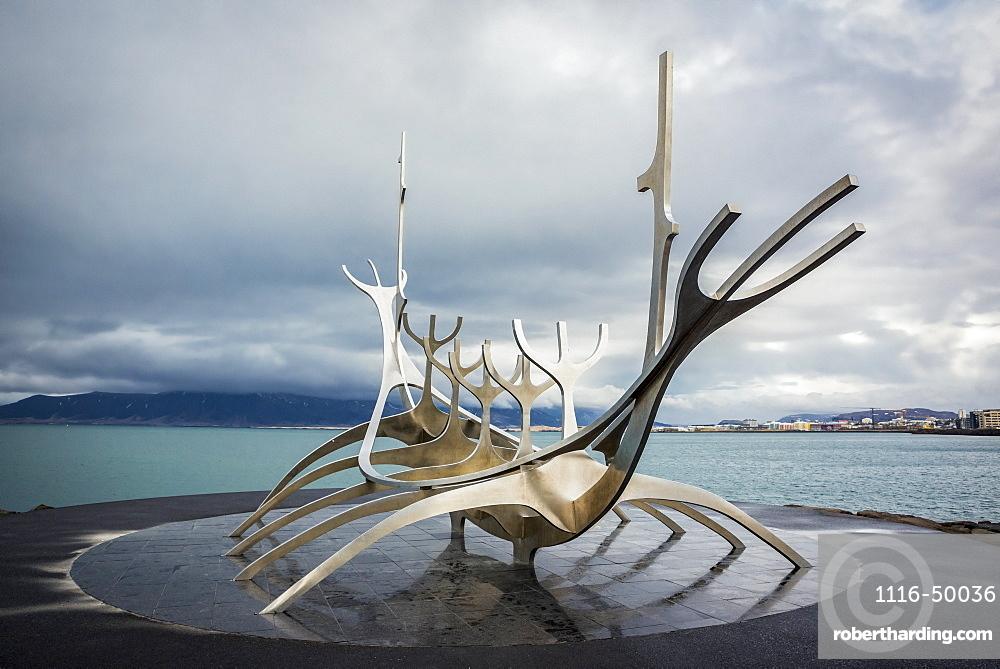 The Sun Voyager sculpture by Jon Gunnar Arnason; Reykjavik, Iceland