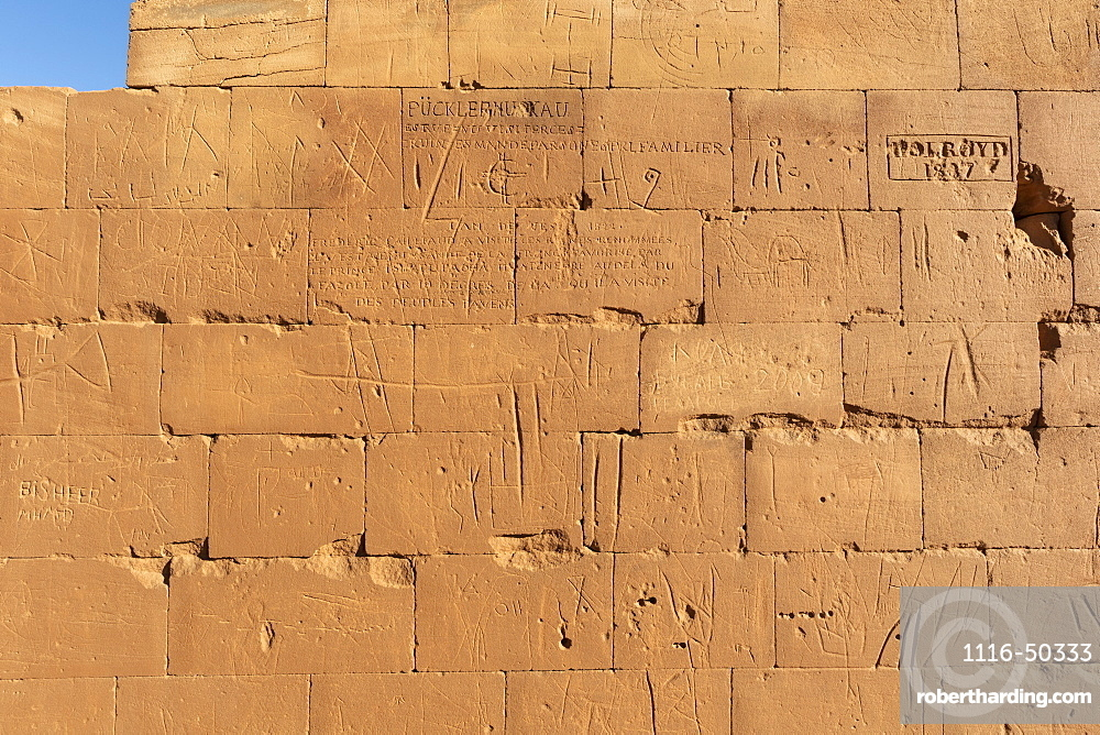 Inscriptions of the Prussian archaeological expedition in the Great Enclosure of Musawwarat es-Sufra; Northern State, Sudan