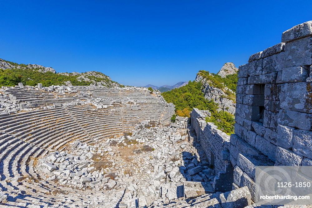 Theatre, Termessos, Antalya Province, Turkey, Asia Minor, Eurasia