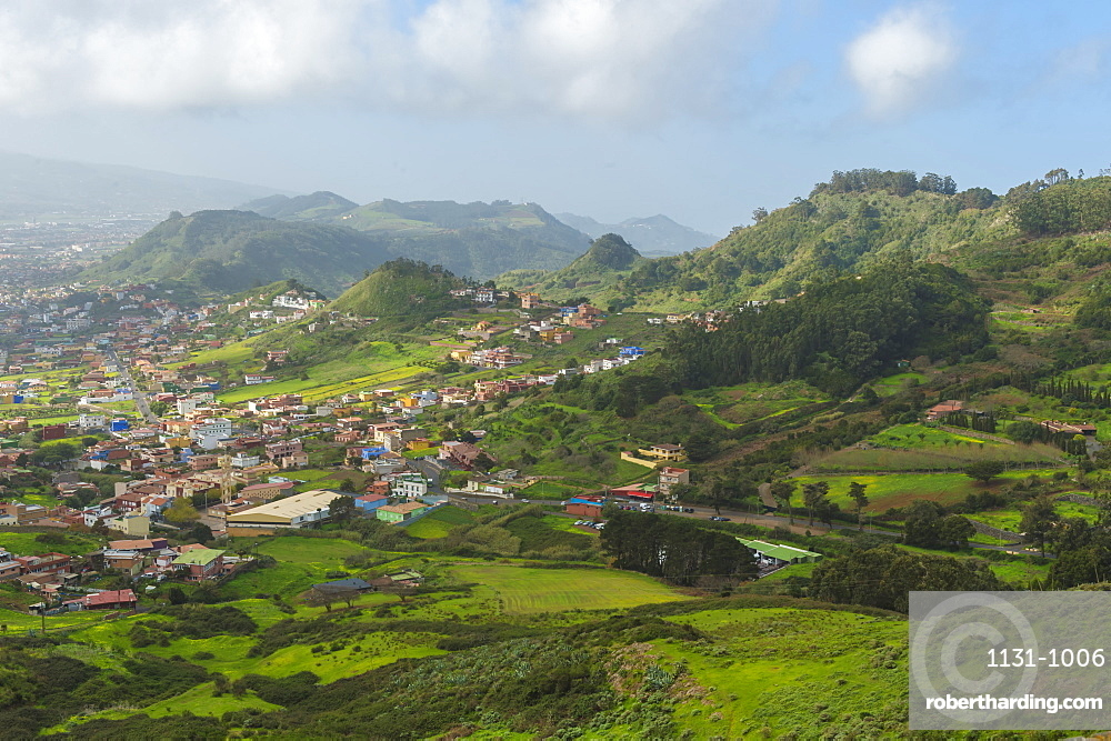 Teide National Park and Anaga rural park viewed from the Mirador Bailadero, Tenerife, Canary Islands, Spain, Europe