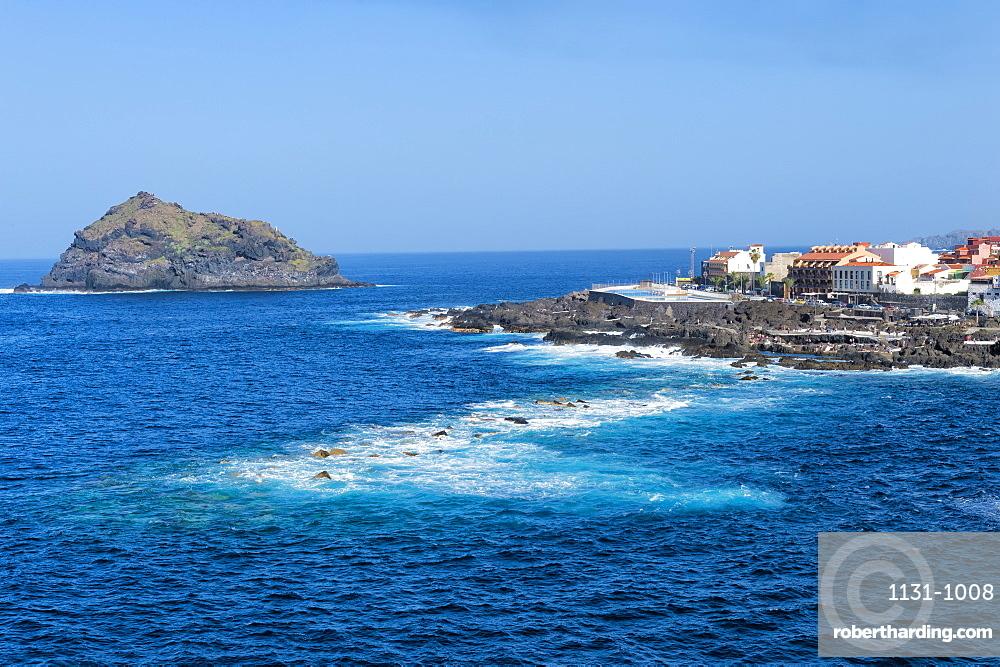 Garachico village viewed from the Mirador del Emigrante, Tenerife, Canary Islands, Spain, Atlantic, Europe