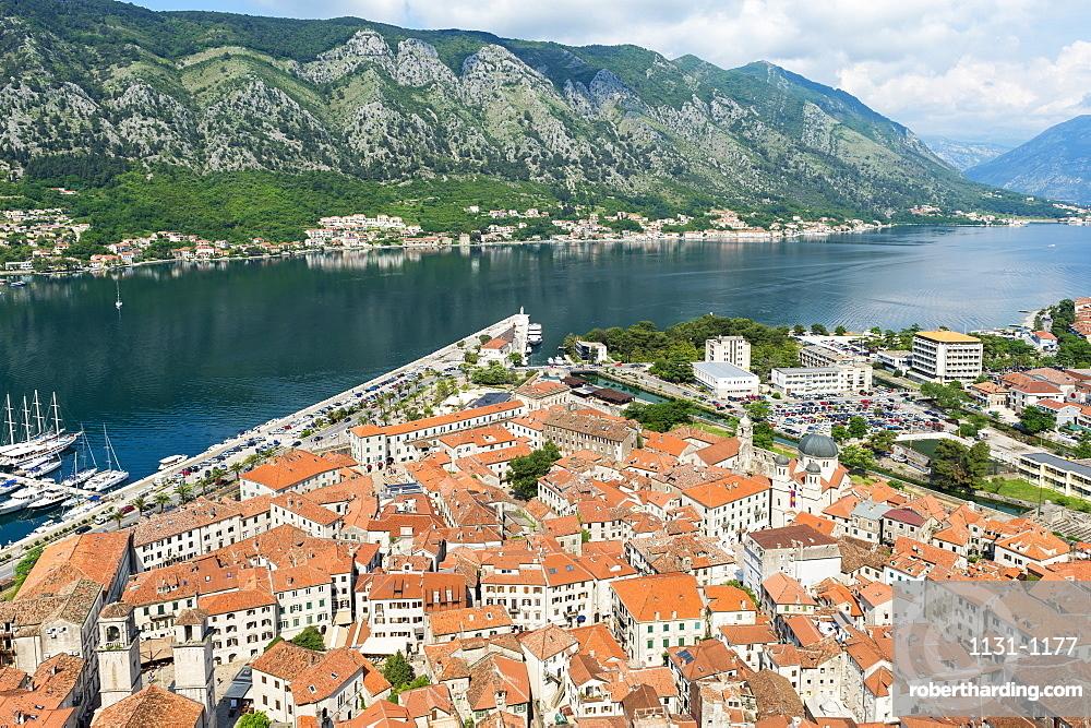 Aerial view of Kotor, Montenegro, Europe