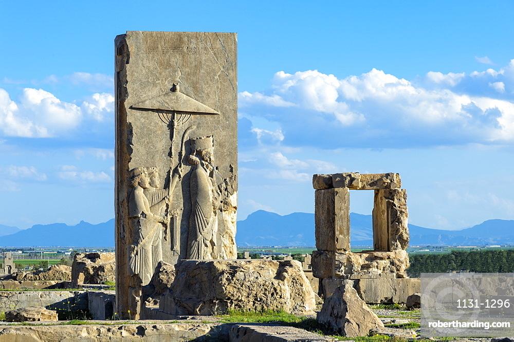 Ruins of the Hadish Palace, Persepolis, UNESCO World Heritage Site, Fars Province, Islamic Republic of Iran, Middle East