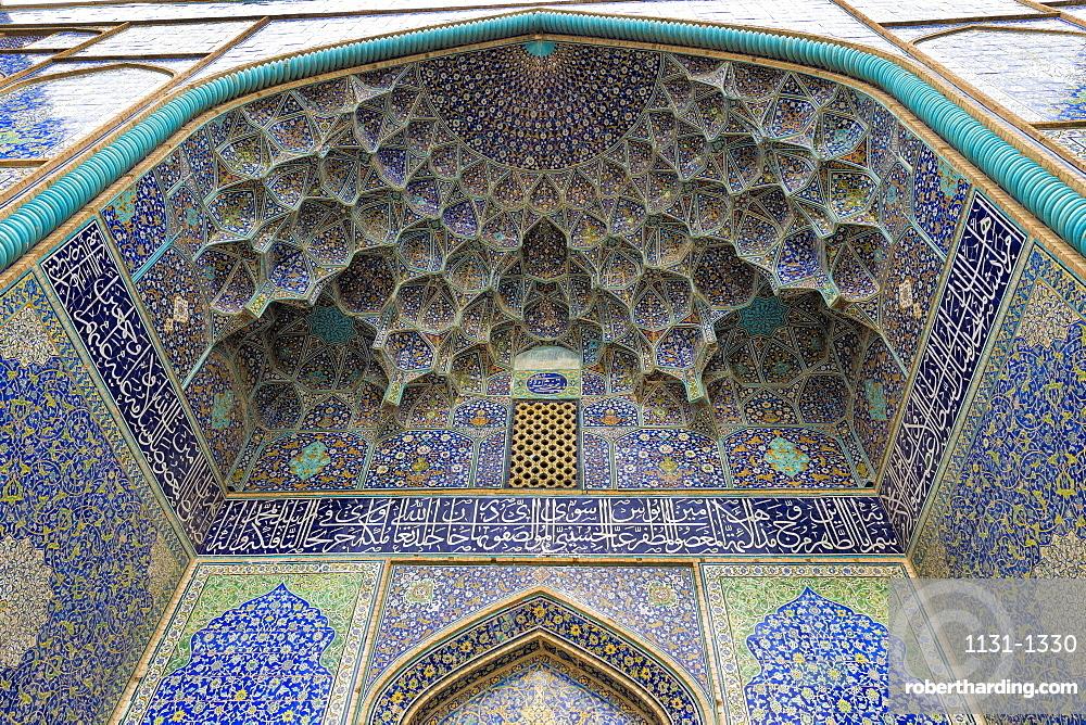Ceiling, Masjed-e Imam Mosque, Maydam-e Iman square, Esfahan, Iran