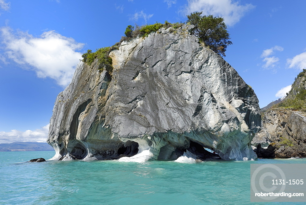 Marble Caves Sanctuary, Marble Cathedral on General Carrera Lake, Puerto Rio Tranquilo, Aysen Region, Patagonia, Chile