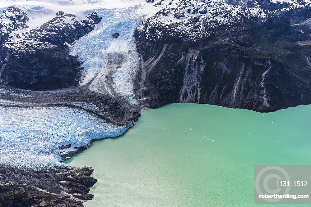 Northern Patagonian Ice Field, Aerial view, Laguna San Rafael National Park, Aysen Region, Patagonia, Chile