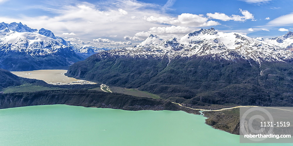 Northern Patagonian Ice Field, Aerial view, Laguna San Rafael National Park, Aysen Region, Patagonia, Chile