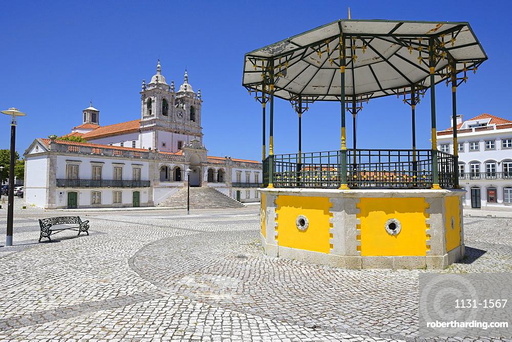 Our Lady of Nazare Church, Largo Nossa Senhora da Nazare, Sitio village, Nazare, Leiria district, Portugal, Europe
