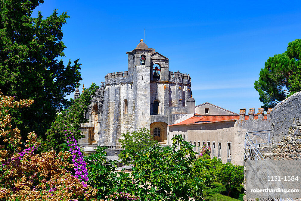 Castle and Convent of the Order of Christ (Convento do Cristo), UNESCO World Heritage Site, Tomar, Santarem district, Portugal, Europe