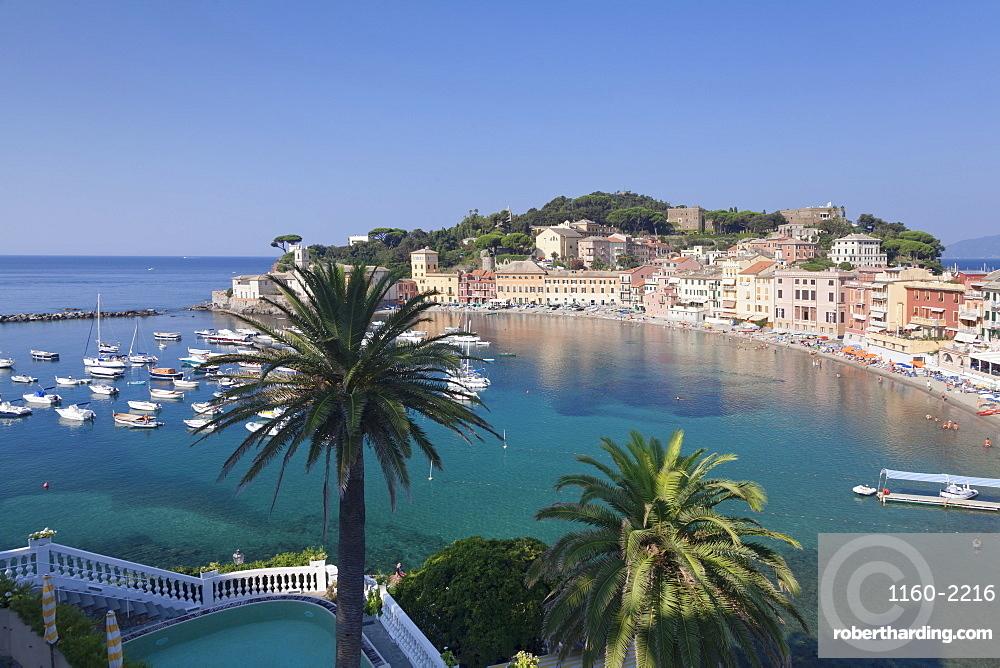 Baia del Silenzio Bay, old town, Sestri Levante, Province of Genoa, Riviera di Levante, Liguria, Italy, Europe