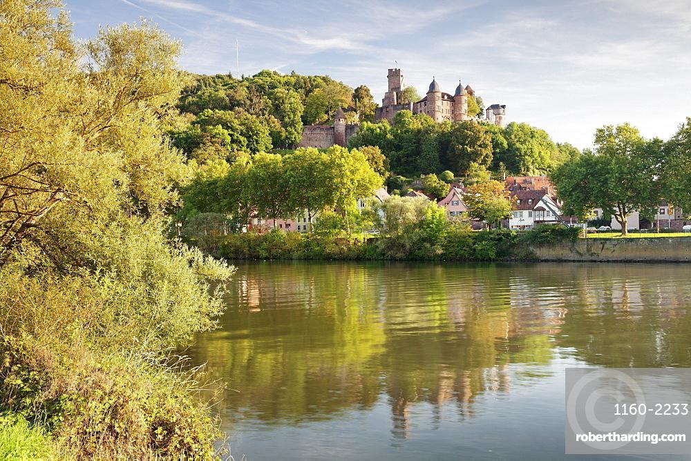 Wertheim Castle, Main River, Wertheim, Main Tauber District, Baden-Wurttemberg, Germany, Europe