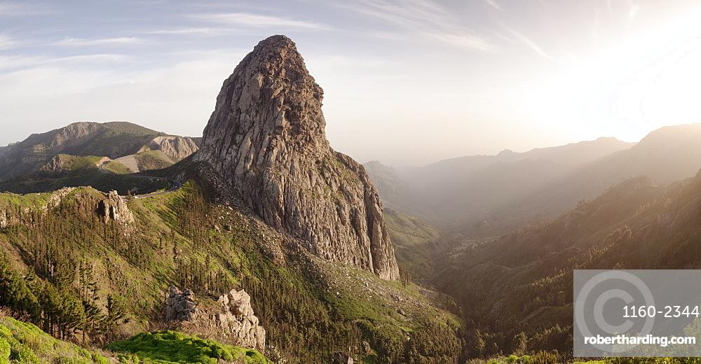 Roque de Agando, Mirador de Roques, Degollada de Agando, La Gomera, Canary Islands, Spain, Europe