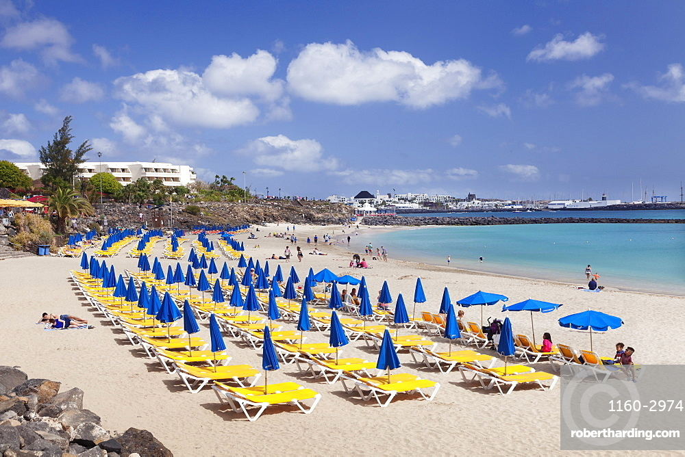 Playa Dorada beach, Playa Blanca, Lanzarote, Canary Islands, Spain, Atlantic, Europe