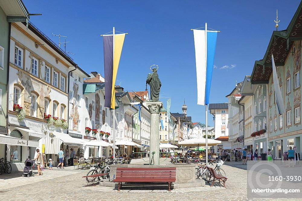 Marktstrasse street, pedestrian zone, Bad Toelz, Upper Bavaria, Bavaria, Germany, Europe