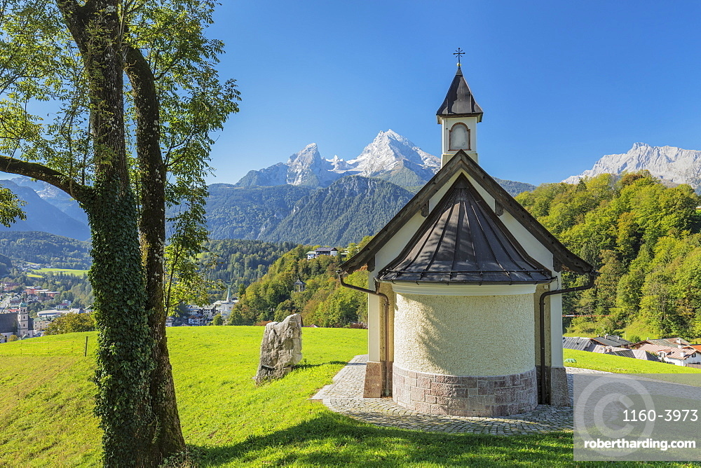 Chapel by mountains in Berchtesgaden, Germany, Europe