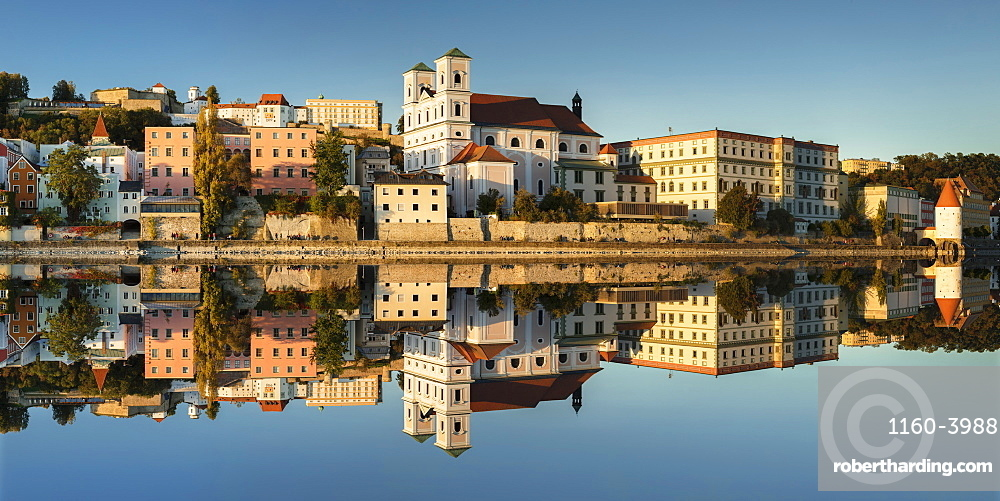 St. Michael Church and Veste Oberhaus fortress in Passau, Germany, Europe