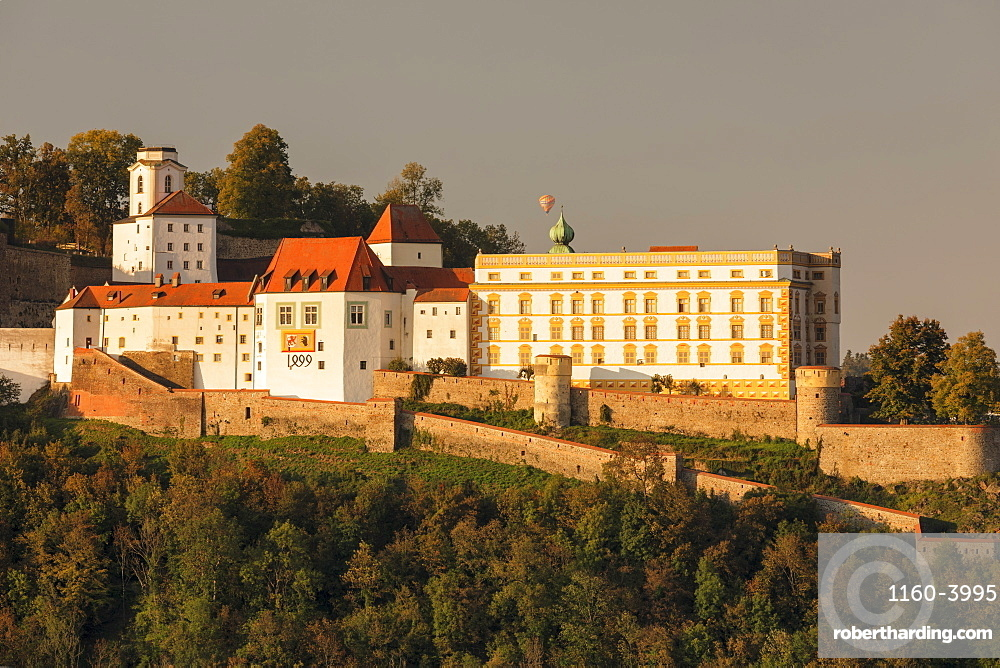 Veste Oberhaus fortress at sunset in Passau, Germany, Europe